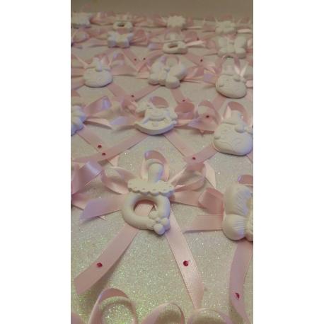 Segnaposto mix baby in gesso ceramico profumato