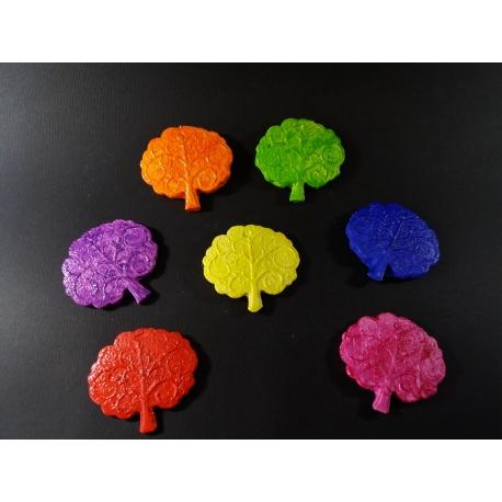 Albero della vita colorato in gesso ceramico profumato