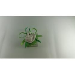 Sposi stilizzati gesso ceramico per promessa matrimonio