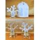 Albero della vita porcellana con petali cristallo ed icona prima comunione