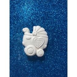 Carrozzina con cuore gesso ceramico profumato
