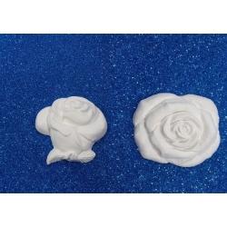 Rosa e Bocciolo gesso ceramico profumato per fai da te 7.7 cm
