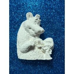 Masha ed orso in gesso ceramico profumato
