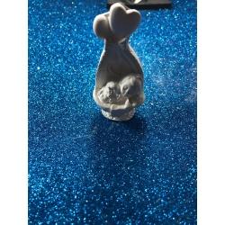 Bimbo - neonato nella culla 3d gesso ceramico profumato