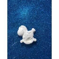 Cavallo dondolo gesso ceramico profumato per il fai da te