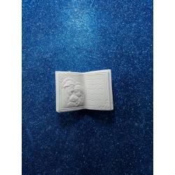Libro battesimo gesso ceramico profumato per fai da te