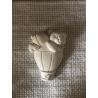 Orsetto su macchinina gesso ceramico profumato