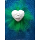 Cuore con angelo 3d in gesso ceramico profumato