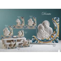 Sacra Famiglia con maioliche 29,9 x 28 : linea Deruta