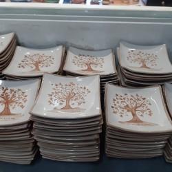 Svuota tasche - vassoietto albero della vita tortora