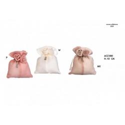 Sacchetto con rosa e ciondolino love