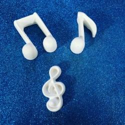 Chiave di sol (nota musicale) gesso ceramico