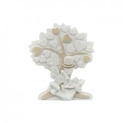 Bimbo con albero cuori Prima Comunione 13x14,5