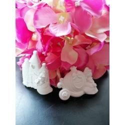 Castello e carrozza principessa gesso ceramico profumato nuovo modello