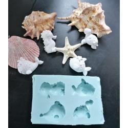 Multi stampo balena, pesce , tartaruga, cavalluccio marino