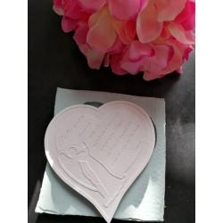 Stampo silicone cuore con angelo e preghiera padre nostro