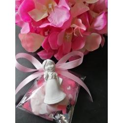 Bustina con cuoricini porta confetti con gessetto profumato