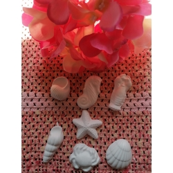 Multistampo Stampo marino cavalluccio conchiglia granchio aragosta stella in gomma siliconica professionale