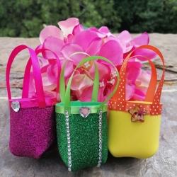Borsetta - mini o bag in gomma crepla personalizzata