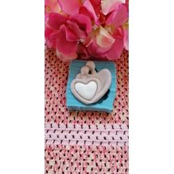 Stampo sposi abbraccio stilizzati in gomma siliconica da colata