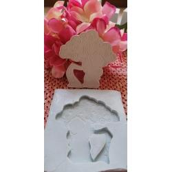 Stampo albero della vita con angelo che prega in gomma siliconica da colata