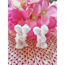 Sposi - sposini - coppia 3d in gesso ceramico profumato