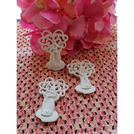Sposini - sposi con albero della vita in gesso ceramico profumato
