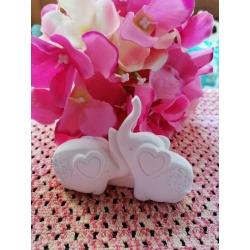 Elefanti - coppia elefanti - elefantini in gesso ceramico profumato 3d