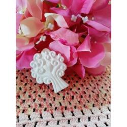 Albero della vita con cuoricino in gesso ceramico profumato