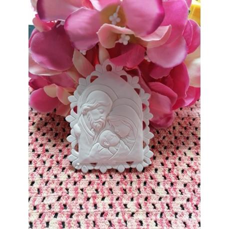 Icona Sacra Famiglia gesso ceramico fai da te