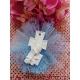 Croce icona prima comunione gesso ceramico profumato