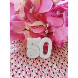 Stampo numero 50 in gomma siliconica professionale da colata