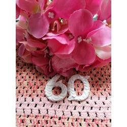 Numero 50 in gesso ceramico profumato