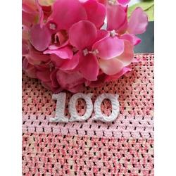 Numero 100 in gesso ceramico profumato