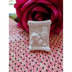 Pergamena calice prima comunione gesso ceramico per fai da te