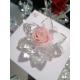 Fiore di cristallo con rosa eterna - stabilizzata