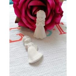 Bimba Prima Comunione gesso ceramico profumato per il fai da te