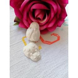 Coccinella laurea in gesso ceramico