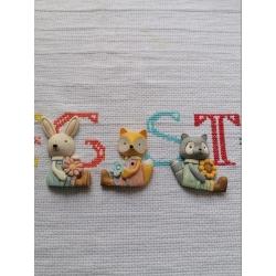 Stampo orsetto lavatore coniglio volpe in gomma siliconica professionale