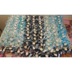 Piedini in gesso ceramico su doppio velo rete