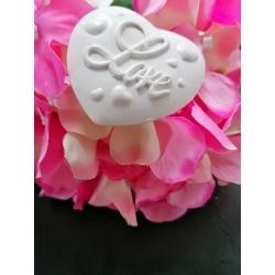 Cuore LOVE in gesso ceramico profumato