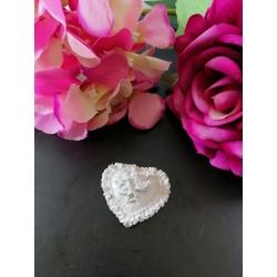 Cuore con rose - roselline in gesso ceramico profumato