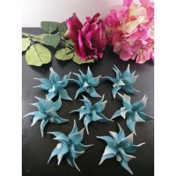 Bomboniere fiore di Capodimonte color tiffany Lotto 8 PZ