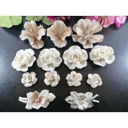 Bomboniere fiore rosa calla di Capodimonte Lotto 13 PZ