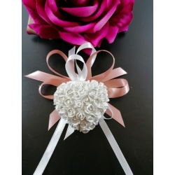 Segnaposto cuore con roselline in gesso ceramico profumato