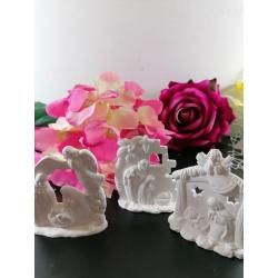 Presepe - natività in gesso ceramico profumato