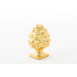 Pigna porcellana oro con luce led : linea Golden love