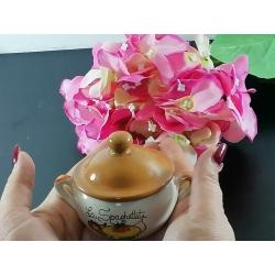 Linea Gourmet: pentolina in ceramica conspaghettata , peperoncino, origano