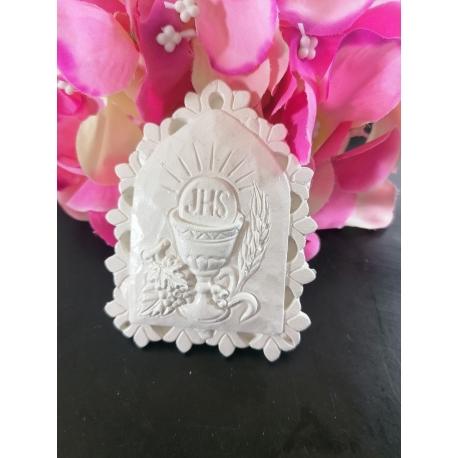 Icona prima comunione in gesso ceramico profumato