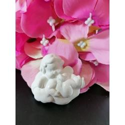 Angelo - bimbo su nuvoletta gesso ceramico profumato